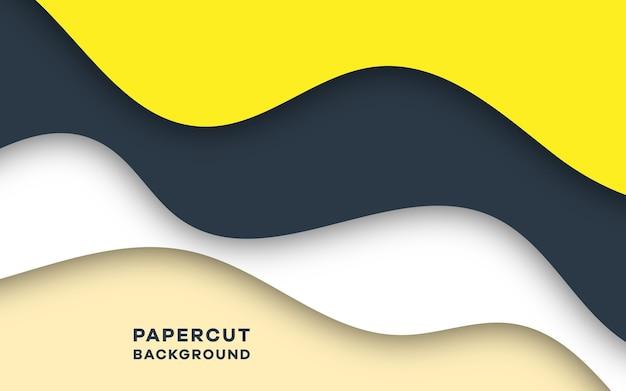 モダンな抽象的なペーパーカットスタイルのエレガントな背景デザイン