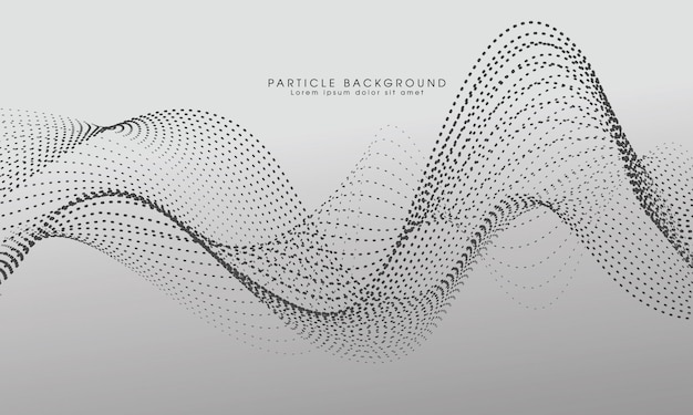 Modern abstract particle wave background