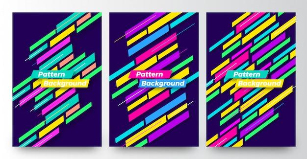 Modern abstract pattern background templates set design