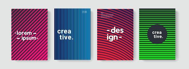 パンフレット、カバー、ポスター、バナー、フレアの線形テクスチャを備えたモダンな抽象的なパターン。