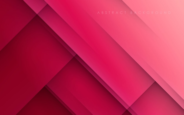 Modern abstract pink background diagonal papercut