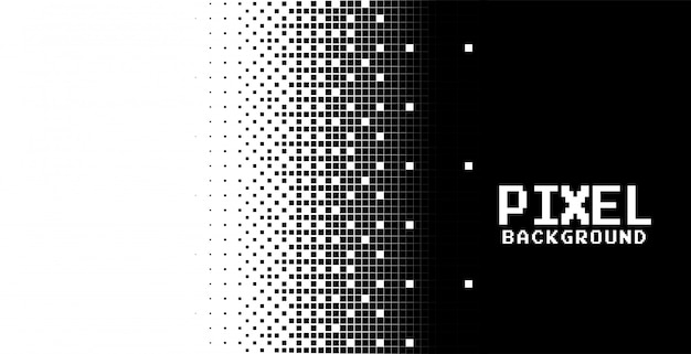 Modern abstract pixels background in black and white
