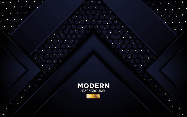 Modern abstract premium black future background banner design in dots and circle pattern texture.