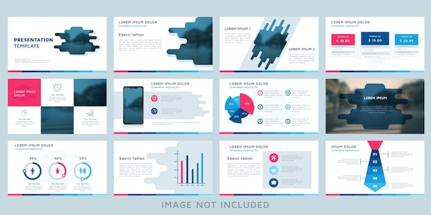 Modern abstract presentation brochure template