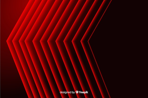 Modern abstract red pointy lines geometric backdrop