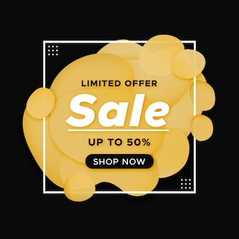 Modern abstract sale banner