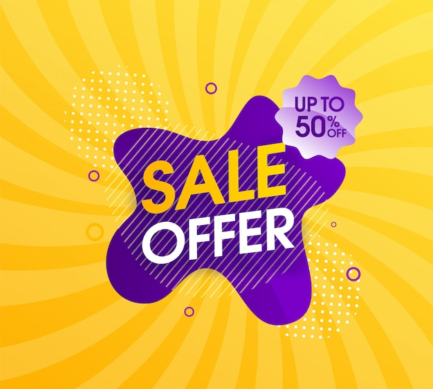 Modern abstract sale promotion design