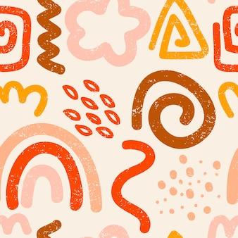 Современные абстрактные бесшовные модели модные векторные иллюстрации в плоском стиле для текстов оберточной бумаги