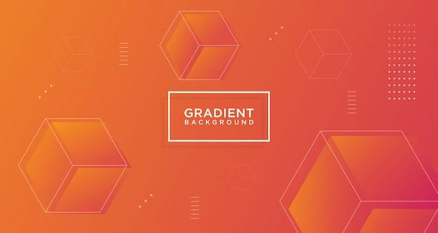 Modern abstract shape gradient banner