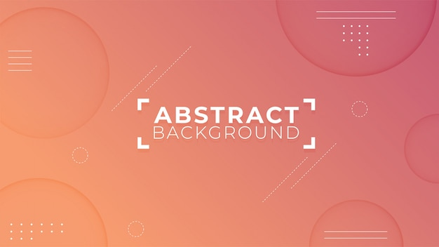 Modern abstract shapes background