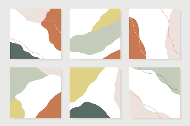 Modern abstract shapes cards.