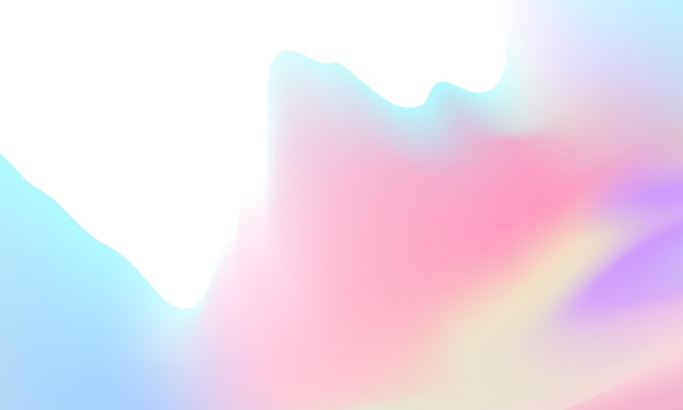 Modern abstract shapes postcard or brochure cover design with a pastel color palette and a gradient background