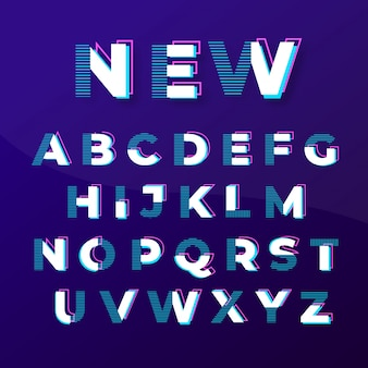Modern abstract stylish fonts design