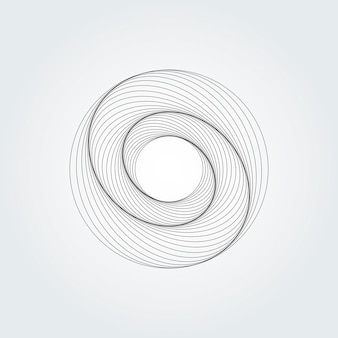 Modern abstract swirl