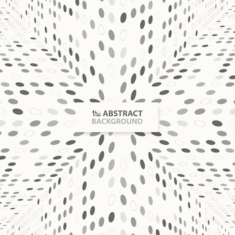 Modern abstract techno gray dots pattern design of perspective background