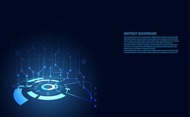 Modern abstract technology digital circuit