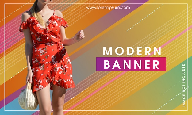 Modern abstract trendy banner