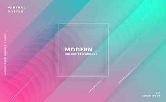 Modern abstract trendy colorful geometric background