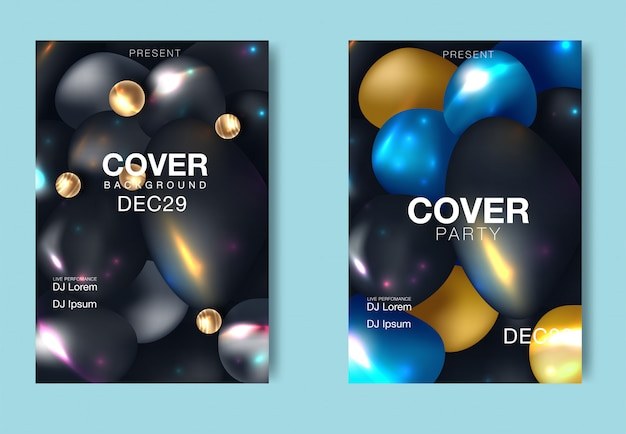 Modern abstract trendy gradient covers. cool simple shapes composition. minimal futuristic design of vector illustration