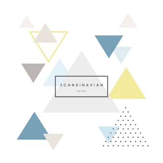 Modern abstract triangle background in scandinavian style.