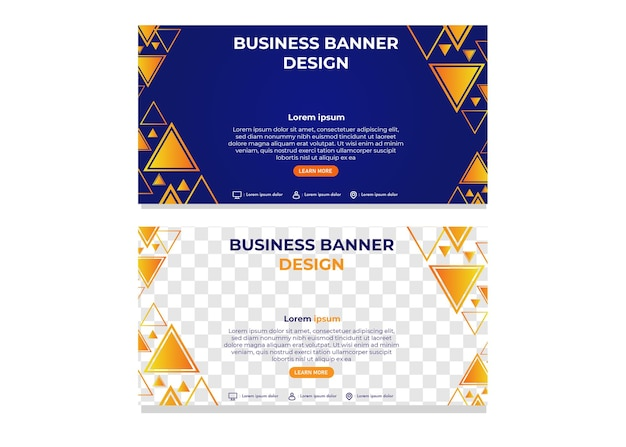 Modern abstract triangle gradient business banner template