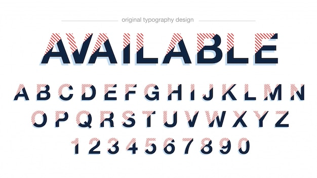 Modern abstract typography design