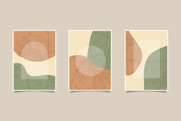 Современная абстрактная винтажная коллекция обложек