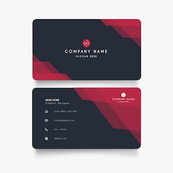 Modern abstract visit card