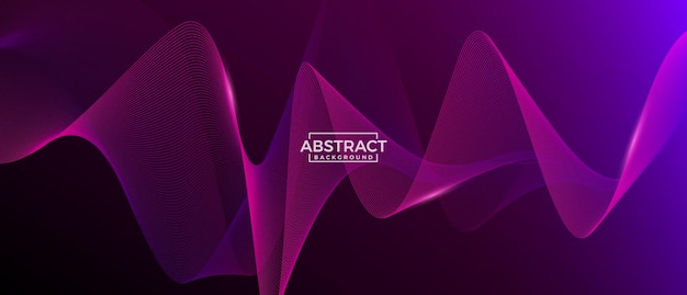Modern abstract wave background