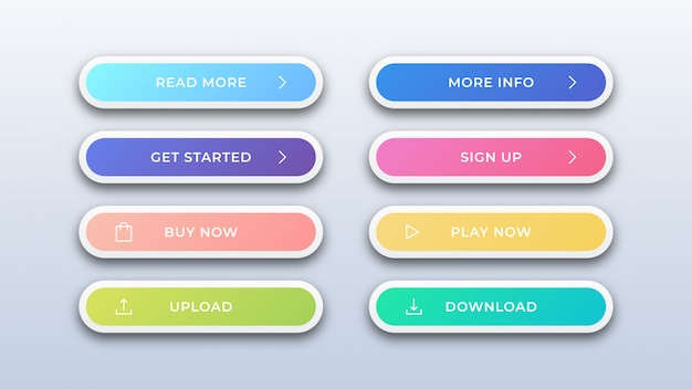 Modern abstract web buttons