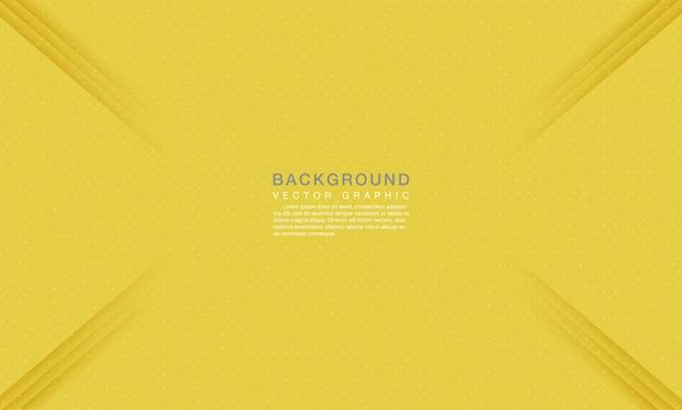 ドット装飾とモダンな抽象的な黄色の背景の概念。