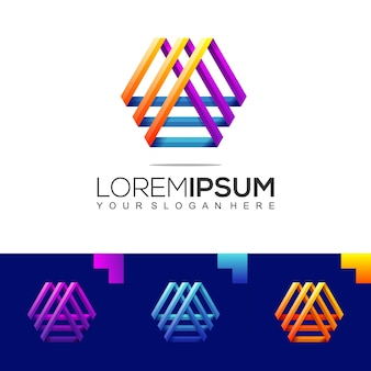 Modern accounting finance logo design template