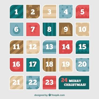 Modern advent calendar