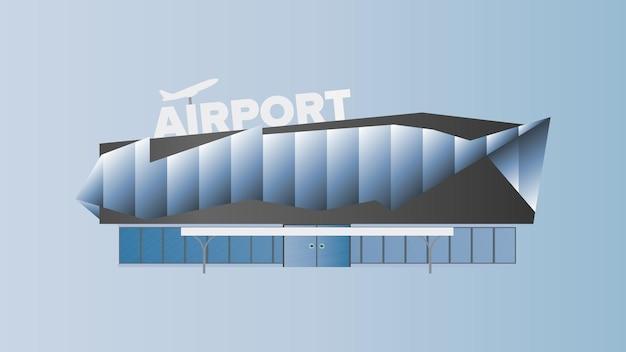 Современный аэропорт. аэропорт в плоском стиле. изолированный. иллюстрация.
