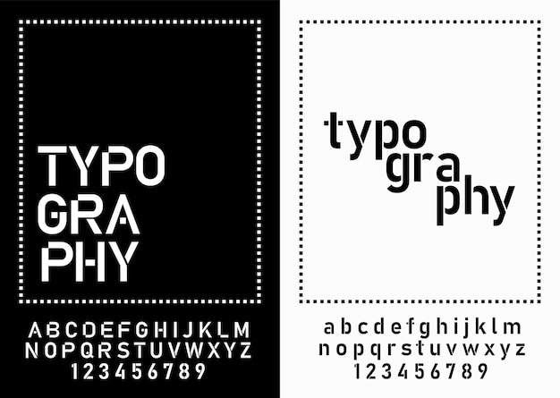 Modern alphabet fonts and numbers