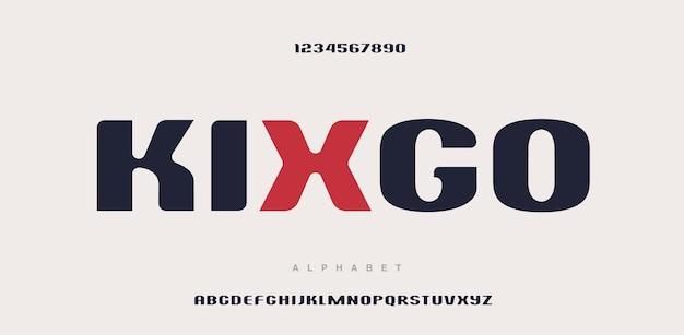 현대 알파벳 문자 글꼴 및 숫자