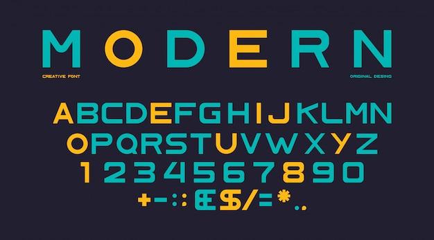 Modern alphabet template