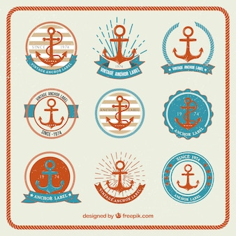 Modern anchor badge collection