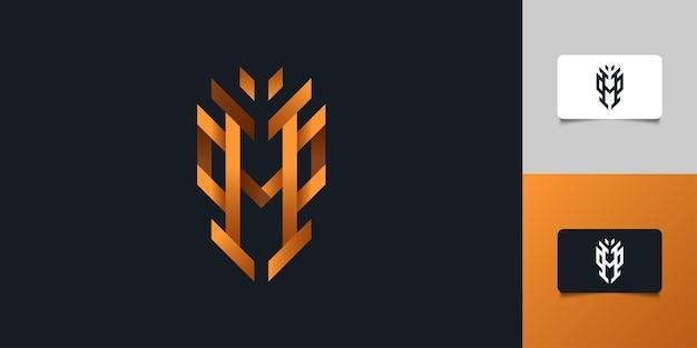 Дизайн логотипа современные и абстрактные буквица h. шаблон дизайна логотипа вензеля h. графический символ алфавита для фирменного стиля