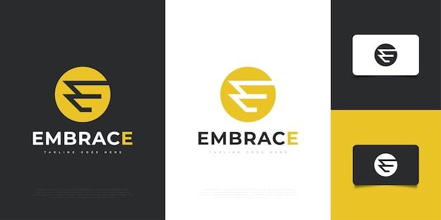 현대적이고 추상적인 편지 e 로고 디자인 템플릿입니다. e 기호 또는 아이콘. 기업 비즈니스 아이덴티티에 대한 그래픽 알파벳 기호