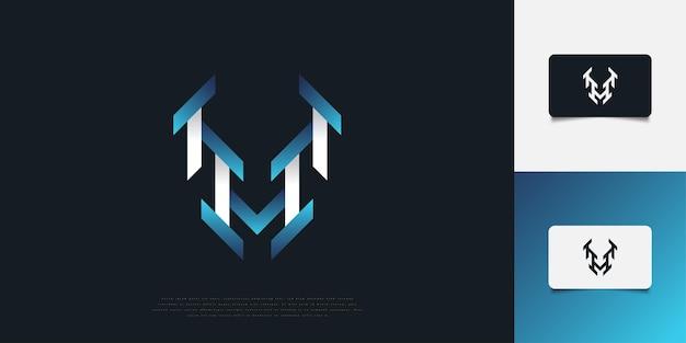 Дизайн логотипа современные и абстрактные буква h в синий и белый градиент. шаблон дизайна логотипа вензеля h. графический символ алфавита для фирменного стиля