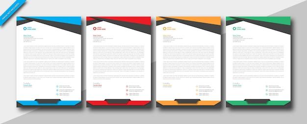 モダンでエレガントな企業のビジネス会社a4サイズのレターヘッドデザインテンプレート