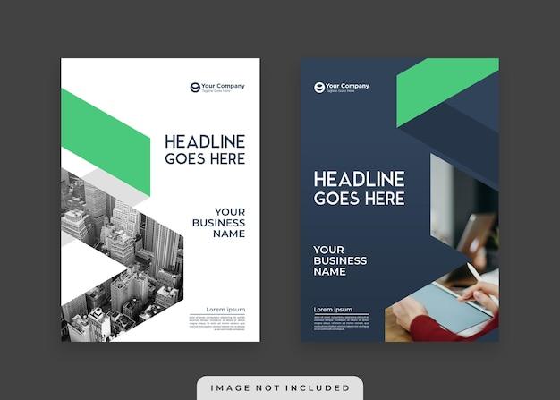 Современная и элегантная минималистическая обложка бизнес-книги и шаблон постера