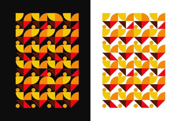 현대적이고 미니멀한 추상 패턴 배경