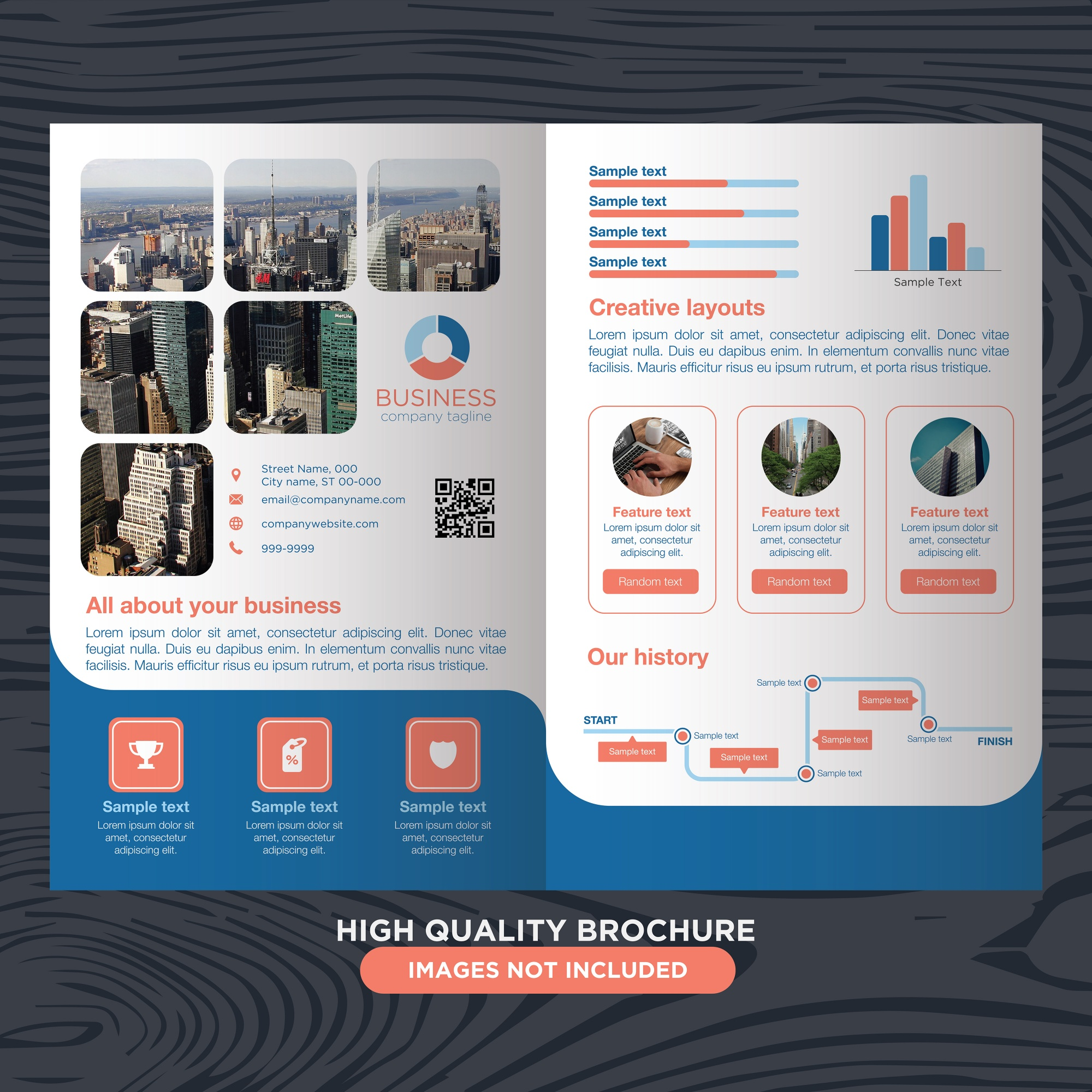 Modern and professional brochure for business