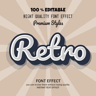 Современный и ретро шрифт с классным эффектом