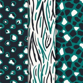現代のアニマルプリントパターンコレクション