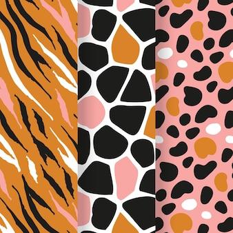 Modern animal print pattern collection
