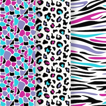 Modern animal print pattern collection