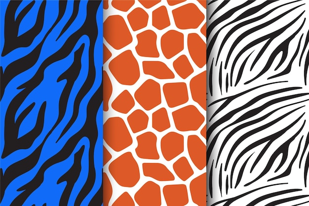 Modern animal print pattern pack
